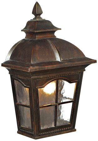 Pompeii Traditional Brown Stone Lantern Outdoor Wall Light
