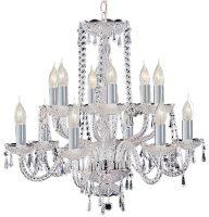 Hale Georgian Style 12 Light Crystal Chandelier