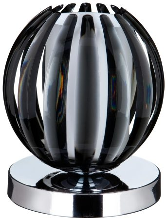 Chrome Smoked Acrylic Ball Touch Dimmer Table Lamp