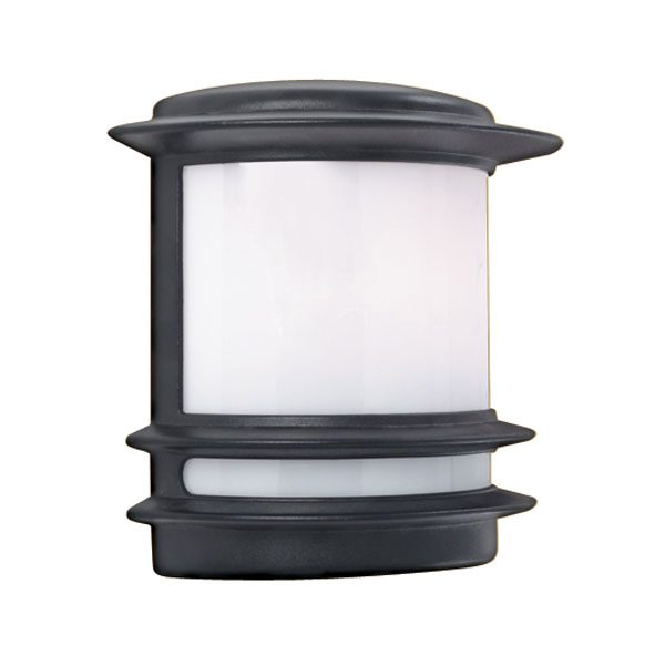 Fitting Outside Wall Lights : Black Half Round Flush Fitting Outdoor Wall Light 1812