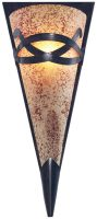 Toga Rustic Bronze Wall Light With Scavo Glass