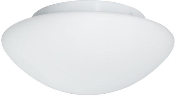 Small Flush Fitting Opal Glass Bathroom Ceiling Light