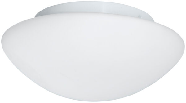 Flush Fitting 3 Lamp Opal Glass Bathroom Ceiling Light