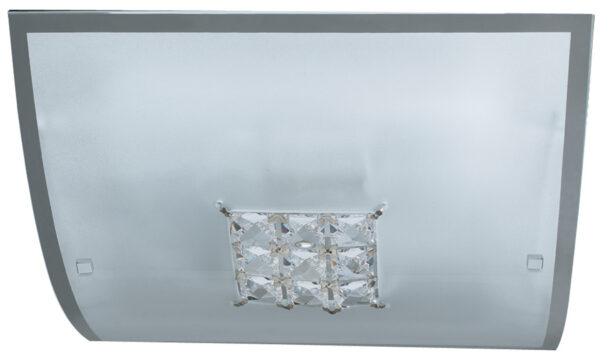 Square Glass 2 Lamp Ceiling or Wall Light