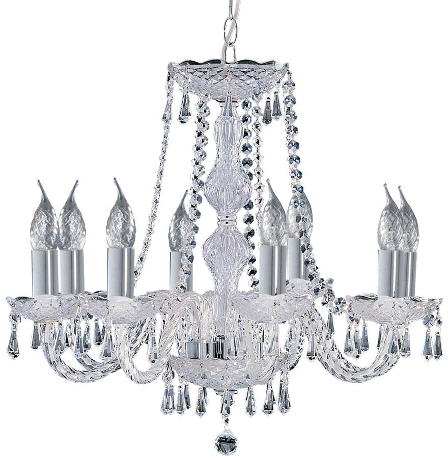 Hale Georgian Style 8 Light Crystal Chandelier