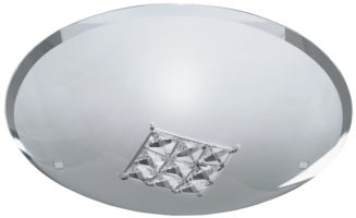 Round Glass Flush Ceiling or Wall Light