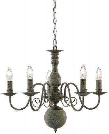Greythorne Steel Grey Traditional 5 Light Chandelier