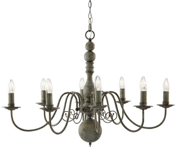 Greythorne Steel Grey Traditional 8 Light Chandelier