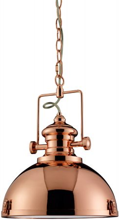 Industrial Style Dome Kitchen Copper Pendant Light