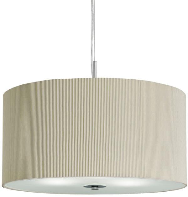 Small Cream 3 Light Drum Ceiling Pendant Light