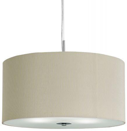Large Cream 3 Light Drum Ceiling Pendant Light