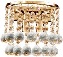 Hanna Gold Finish 2 Light Crystal Wall Lamp
