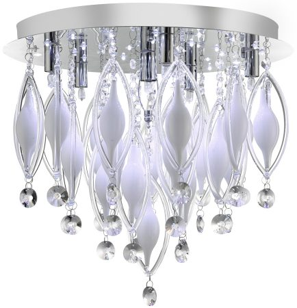 Spindle Modern Chrome 6 Lamp LED Flush Light Fitting