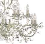 Almandite 12 Light Cream / Gold Large Chandelier With Crystal