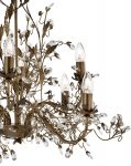 Almandite Brown / Gold 8 Light Chandelier With Crystal