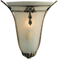 Traditional Antique Brass And Scavo Glass Wall Washer Light