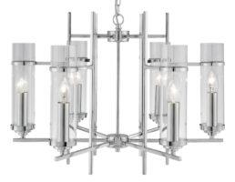Milo Chrome 6 Lamp Art Deco Style Pendant Light