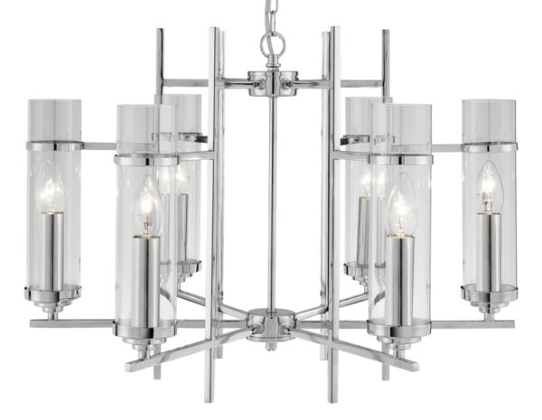 Milo Chrome 6 Lamp Art Deco Style Pendant Light