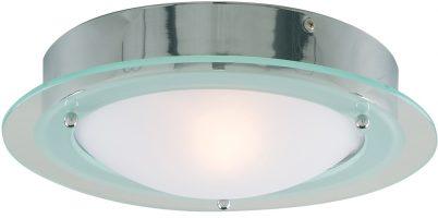 Chrome IP44 Flush Bathroom Ceiling Fitting