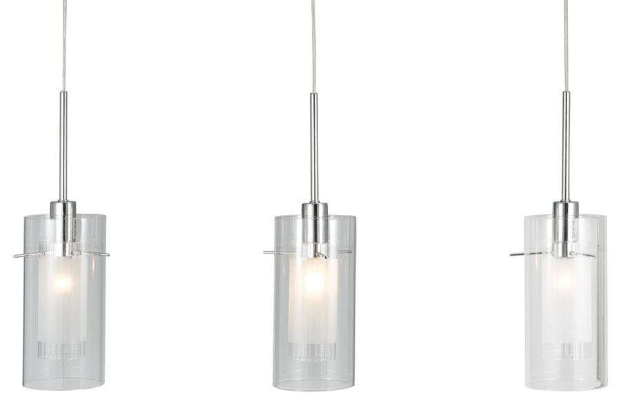 Duo 1 polished chrome 3 light bar pendant clear glass shades 3303 3cc duo 1 polished chrome 3 light bar pendant clear glass shades aloadofball Gallery
