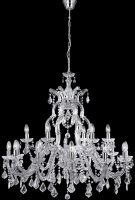 Large Marie Therese 18 Light Crystal Chandelier Polished Chrome