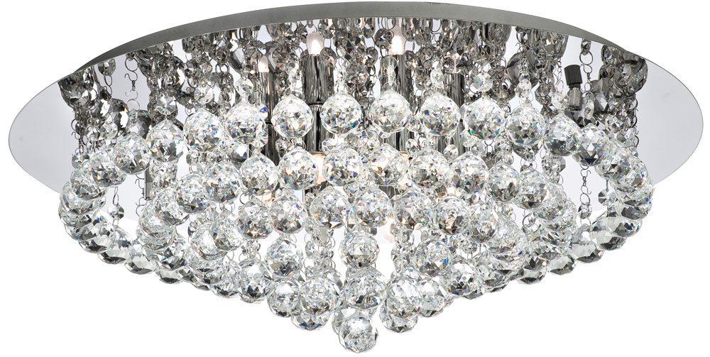 Hanna chrome 8 light large flush crystal ceiling light 3408 8cc hanna chrome 8 light large flush crystal ceiling light aloadofball Images