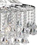 Dorchester Chrome 5 Light Modern Crystal Chandelier