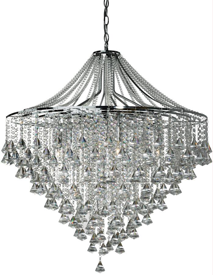 dorchester large chrome 7 light modern crystal chandelier 3497 7cc