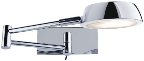 Low Energy Chrome Swing Arm Switched Wall Light