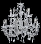 Marie Therese Chrome 12 Light Crystal Chandelier