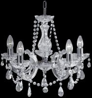 Marie Therese Chrome 5 Light Crystal Chandelier