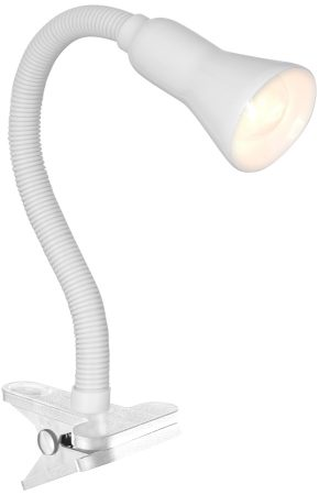 White Flexible Clip On Task Light