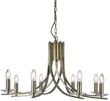 Ascona Modern Antique Brass 8 Light Twist Chandelier