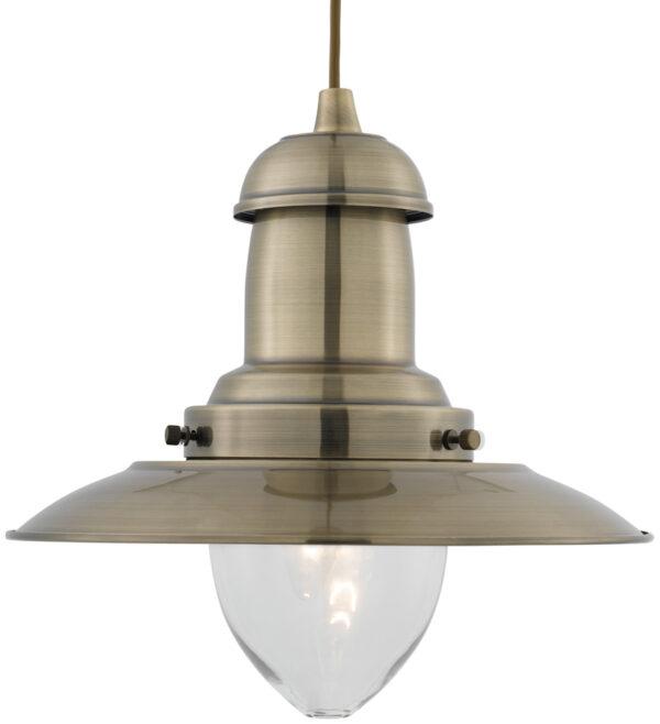 Fisherman Medium Antique Brass Nautical Ceiling Lantern Clear Glass