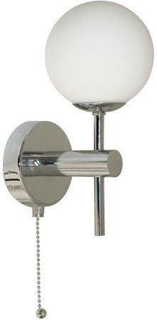 Globe Traditional Chrome Bathroom Switched Wall Light