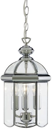 Polished Chrome Traditional 3 Light Hanging Lantern