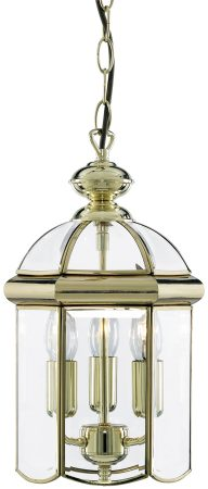 Polished Brass 3 Light Hanging Lantern