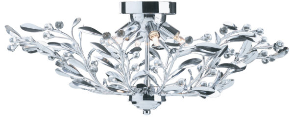 Lima Semi Flush 6 Lamp Chrome Finish Light Fitting