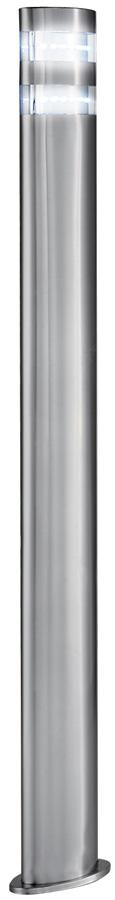 Modern Satin Stainless Steel 90cm LED Outdoor Post Light IP44
