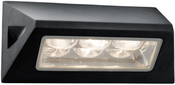 Black Angled IP44 Outdoor LED Bulkhead Light