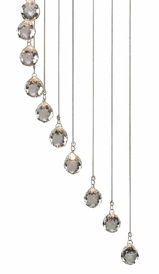hallway chrome spiral 5 light long drop crystal stairwell pendant 5742cc