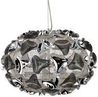 Triangle Modern 44cm Chrome And Acrylic 3 Light Pendant