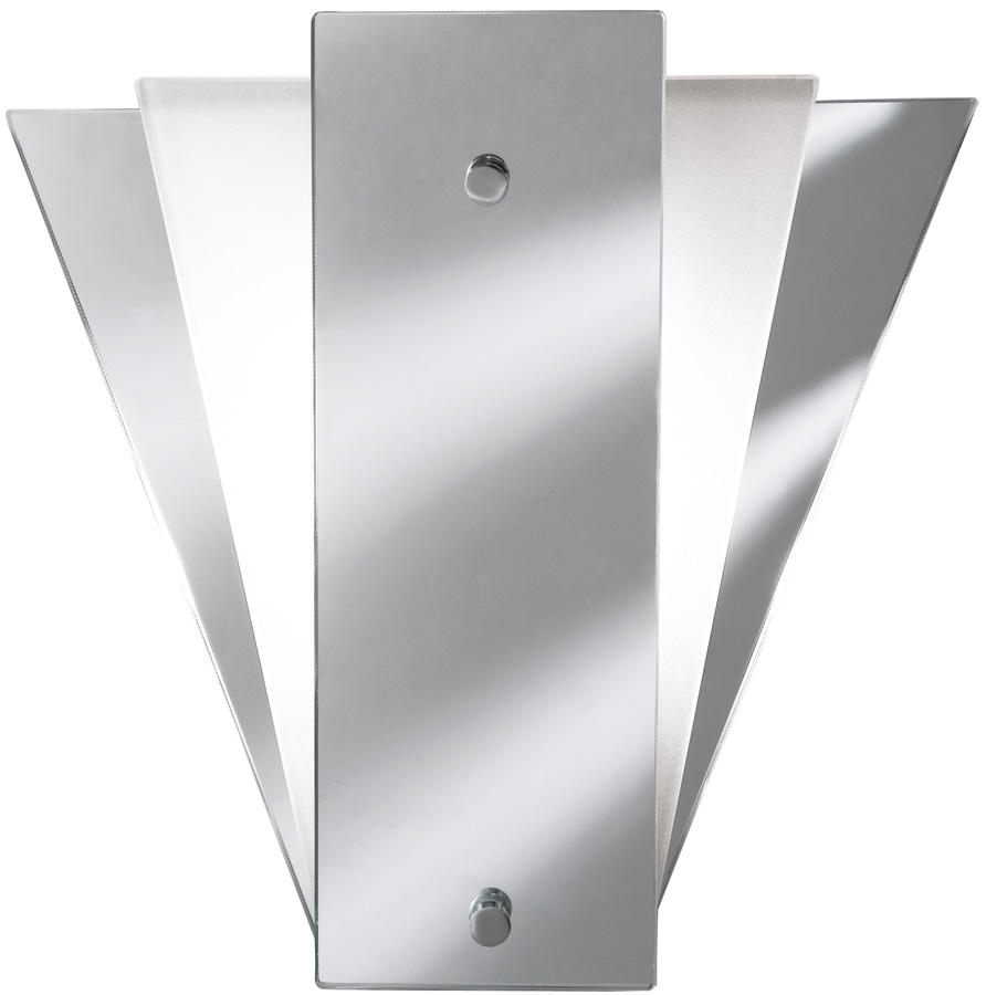Deco Style Wall Lights : Classic Mirror Chrome Art Deco Style Wall Light Searchlight 6201