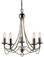 Maypole Bird Cage 5 Light Antique Brass Chandelier