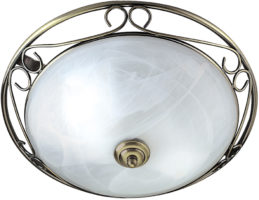 Flush Fitting Traditional Antique Brass Ceiling Light