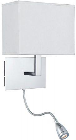 Chrome Bedside Wall Light LED Reading Lamp