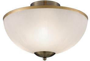 Brahama Flush Fitting Acid Etched Glass Ceiling Light