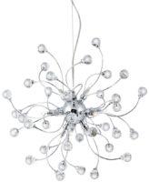 Sonja Modern Chrome 12 Light Pendant With Crystal Decoration