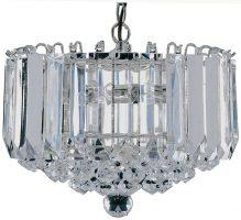 Sigma Chrome Finish 4 Lamp Acrylic Light Pendant