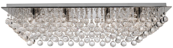 Hanna Large Rectangular 8 Lamp Crystal Ceiling Light